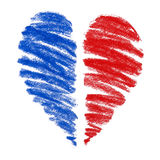 сердце чертежа Стоковое Фото
