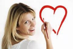 сердце чертежа Стоковые Фотографии RF