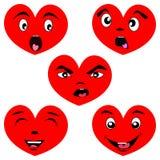 Сердце шаржа установленное с сторонами Стоковое Фото