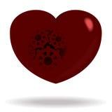 Сердце шестерней Стоковое Фото