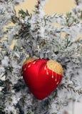 Сердце льда зимы стоковое изображение rf