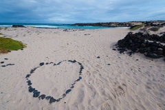 сердце элемента конструкции пляжа романтичное Стоковое Изображение RF