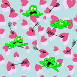 Сердце лягушки стрелки Стоковое фото RF
