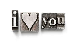 сердце я тебя люблю Стоковые Фото