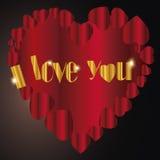 Сердце   Я тебя люблю я Стоковое фото RF