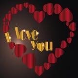 Сердце   Я тебя люблю я Стоковые Фотографии RF