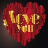 Сердце   Я тебя люблю я Стоковое Фото