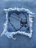 сердце джинсовой ткани 3 Стоковые Фотографии RF