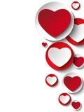 Сердце дня Валентайн на белой кнопке Стоковое фото RF