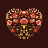 Сердце Boho Племенная карточка стиля Стоковые Изображения RF