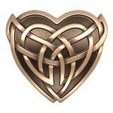 Сердце Celtic золота Стоковые Фотографии RF