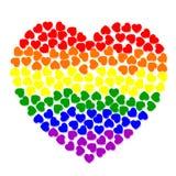 Сердце Colorfull от малых сердец Стоковые Фото