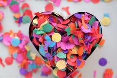 Сердце confetti Стоковое Изображение RF