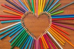 Сердце Crayon Стоковая Фотография RF
