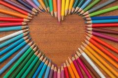 Сердце Crayon Стоковое фото RF