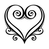 Сердце Deco иллюстрация штока