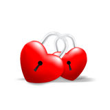 Сердце Grossy запертое совместно Стоковые Фото
