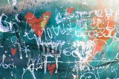 Сердце grunge концепции вычерченная рука Абстрактная винтажная предпосылка валентинки с текстурой grunge иллюстрация штока