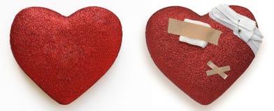 Сердце Healty и больное сердце стоковое изображение rf