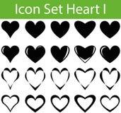 Сердце i значка установленное Стоковая Фотография RF