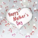 Сердце ` s матери сложенное днем бумажное Стоковое Изображение RF