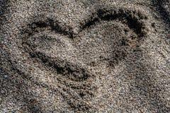 Сердце Sandy Стоковое Изображение
