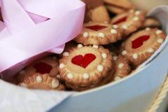 Сердц-форменное печенье Стоковая Фотография RF