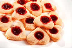 Сердц-форменные печенья Стоковая Фотография RF