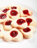 Сердц-форменные печенья Стоковые Изображения