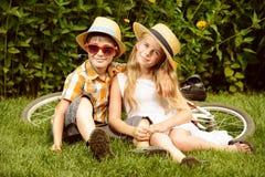 Сестра и брат Стоковое Изображение