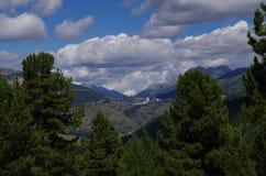 Сестриере, высокогорная деревня около Турина Италии Стоковые Фотографии RF
