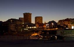 Сестриере к ноча на голубом часе Стоковое Фото