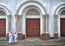 Сестры на соборе Джафне St Mary Стоковое фото RF