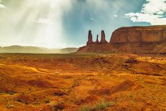 3 сестры, панорамный ландшафт, поездка долины памятника стоковое фото rf