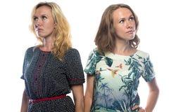 2 сестры смотря различные стороны Стоковые Изображения RF