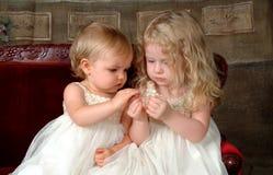 сестры удерживания цветка Стоковые Изображения