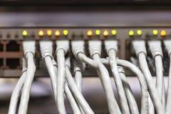 Сетевые серверы предпосылки в комнате комнаты данных отечественной Стоковая Фотография