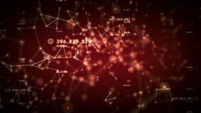 Сети и отслеживать данных красный иллюстрация вектора
