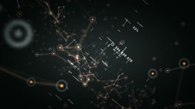 Сети и тележка данных черная иллюстрация вектора