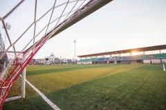 Сети цели футбола Стоковая Фотография RF