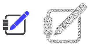 Сетка вектора полигональная редактирует показатели и плоский значок иллюстрация вектора
