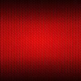 Сетка волокна углерода красного цвета комплекта 8 на красной металлической пластине Стоковая Фотография