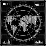 сетка иллюстрации 8 дополнительная градиентов формы eps отсутствие вектора экрана радиолокатора реалистического Светотеневая иллю Стоковая Фотография
