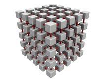 сетка кубика более малая Иллюстрация вектора