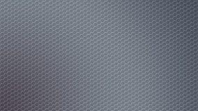 Сетка металла конспекта сияющая шестиугольная в серой предпосылке стоковое фото