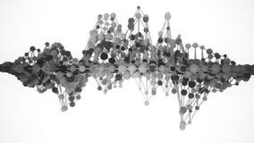 сетка молекулы сети 4K иллюстрация вектора