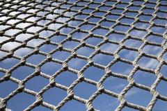 Сетка сделанная пеньковой веревки Стоковые Фотографии RF
