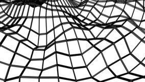 Сетка черной абстракции трехмерная медленно деформированная на белой предпосылке r E бесплатная иллюстрация