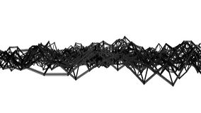 Сетка черной абстракции трехмерная медленно деформированная на белой предпосылке r E иллюстрация штока