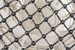 Сетка черных веревочки и шариков Стоковые Фотографии RF